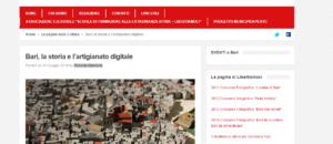 13 Maggio 2016 - Libertiamoci.Bari - Bari, la storia e l'artigianato digitale - di Roberta Giordano